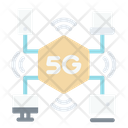 5 G Infrastructure 5 G Signal Icon
