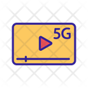 5 G Internet Play Icon