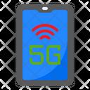 5 G Mobile 5 G Smartphone Icon