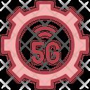 5 G Signal Setting Icon