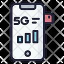 5 G Sim Card Phone Sim 5 G Icon
