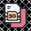 5 G Sim Card Sim Card 5 G Icon