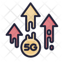 5 G Uploaded Speed Speed Connection 5 G Icon