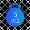 5 Kg Kettlebell Icon