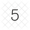 Number Five Keyboard Icon
