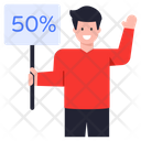 Placard 50 Discount Sale Discount Icon