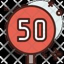 50 Km Icon