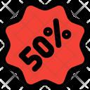 50 Percent Sticker Icon