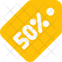 50 Percent Tag 50 Ercent Label Discount Tag Icon