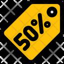 50 Percent Tag Icon