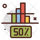 50 Percentage Icon