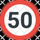 50 Speed Limit Speed Limit Road Icon