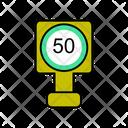 50 Speed Limit Icon