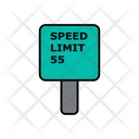 55 Speed Limit Icon