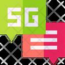 5 G Conversation Icon
