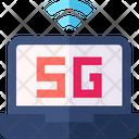 5 G Laptop Icon
