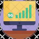 5 G 4 G Communication Icon