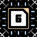 6 Bits Processor Chip Processor Icon