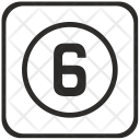 Number Six Keyboard Icon