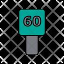 60 Speed Limit Icon