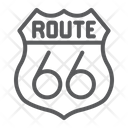Route Road Sign Icon