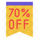 70 Percentage Off Icon