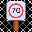 Speed Board Speed Limit 70 Speed Icon