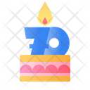 70 years Cake Icon