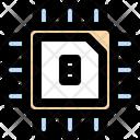 8 Bits Processor Chip Processor Icon