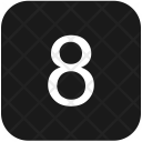 Keyboard Number Eight Icon