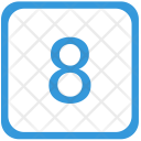 Eight Number Keyboard Icon