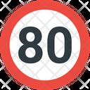 80 Speed Limit Speed Limit Road Icon