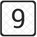Nine Count Keyboard Icon