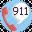 911 Call Phone Icon