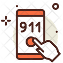 911 Dial Fire Number Dial Fire Number Icon