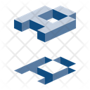 Alphabet Isometric Symbol Icon