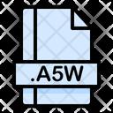 A 5 W File A 5 W File Icon
