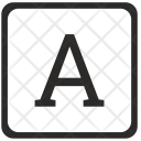 A Uppercase Letter Icon