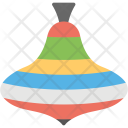 A colorful spinning top flat icon design Icon