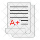 A Grade Best Result Grade Sheet Icon