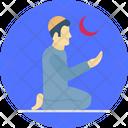 A Man Praying Prayer Muslim Icon