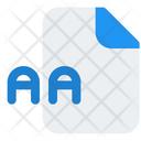 Aa File Icon