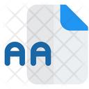 Aa File Audio File Audio Format Icon