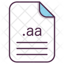 Aa File Document Icon