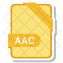 Aac File Document Icon