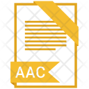 Aac Format Document Icon