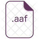 Aaf File Document Icon