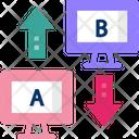 Ab Testing Split Comparision Icon