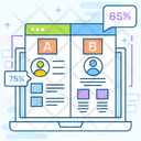 Ab Testing Comparing Method Usability Testing Icon