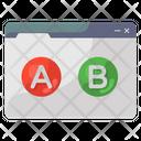 Ab Testing Multivariate Testing Split Testing Icon